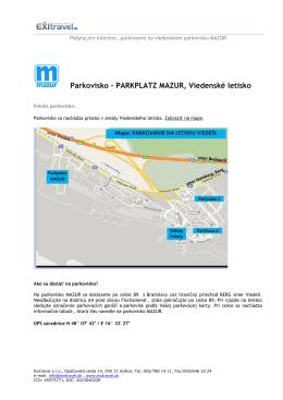 Parkovisko – PARKPLATZ MAZUR, Viedenské letisko