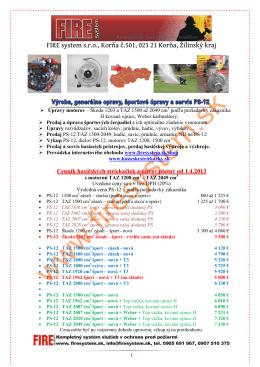 FIRE system s.r.o., Korňa č.501, 023 21 Korňa, Žilinský kraj