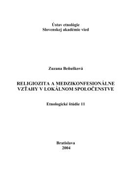 Publikacia2004 - Zuzana Beňušková