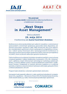 """Next Steps in Asset Management"""