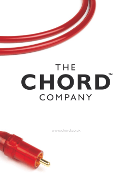 Chord speaker cables - 4CE Distribution, s.r.o.