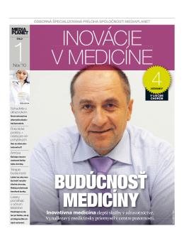 Inovatívna medicína zlepší služby v zdravotníctve