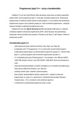 3.Programovací jazyk C++ - vývoj a charakteristika.pdf