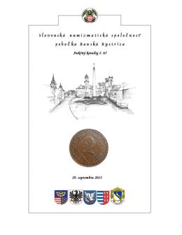 Aukčný katalóg - Slovenská numizmatická spoločnosť, pobočka