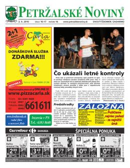 2+1 - Petržalské Noviny