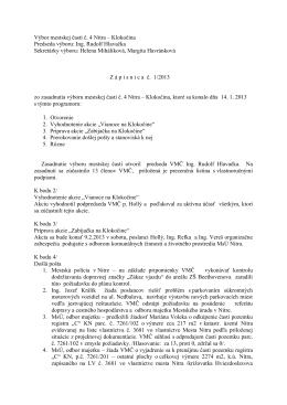 Zápisnica z 14.1.2013 - Čajkovského 13,15,17,19