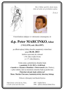d.p. Peter MARCINKO, kňaz