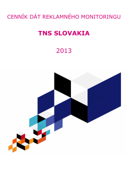 TNS SLOVAKIA 2013