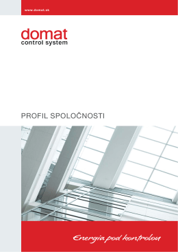 PROFIL SPOLOČNOSTI - Domat Control System