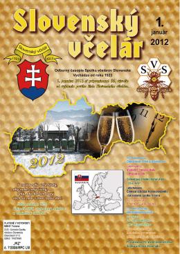 Slovenský včelár 01/2012 - SPOLOK VČELÁROV SLOVENSKA