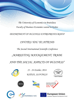 marketing management, trade and the social aspects of business