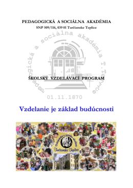 Pomaturitné štúdium - Pedagogická a sociálna akadémia