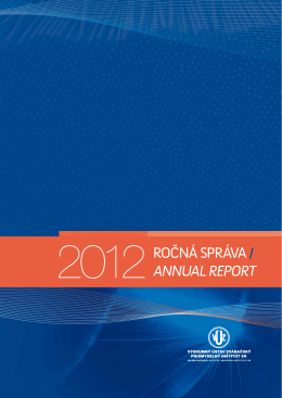 Ročná spRáva / annual RepoRt