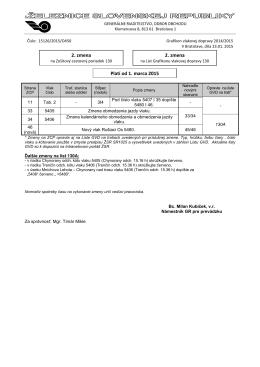 2. zmena 2. zmena Platí od 1. marca 2015