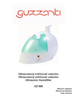 Návod ke zvlhčovači vzduchu Guzzanti GZ986
