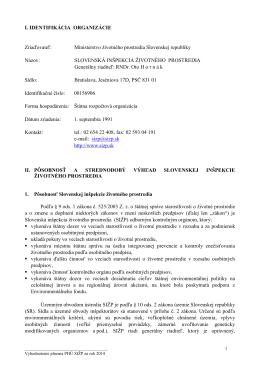 Vyhodnotenie plnenia PHÚ za rok 2014