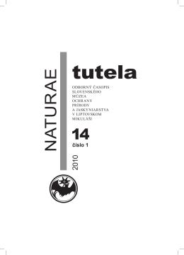 Abstrakty NT 14/1,2 rok 2010 - Slovenské múzeum ochrany prírody
