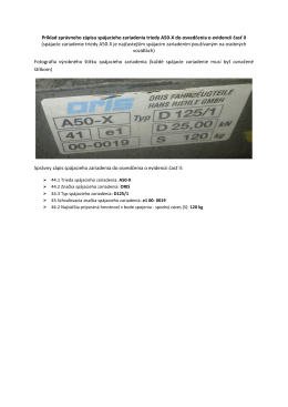 Príklad správneho zápisu spájacieho zariadenia triedy A50