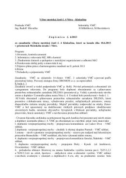 Zápisnica z 10.6.2013 - Čajkovského 13,15,17,19