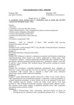 Zápisnica zo zasadnutia VMČ 4 zo dňa 10.2.2014