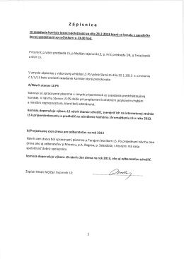Zápisnica - urbarvysnaslana.sk