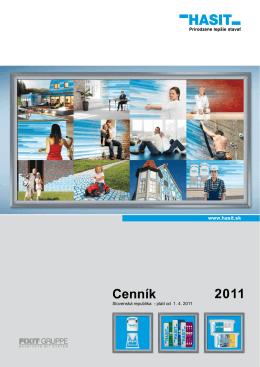 Cenník 2011