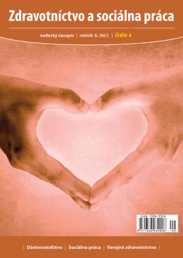 Zdravotníctvo a sociálna práca SK, číslo 4/2013