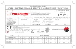 EPS 70 - POLYFORM, sro