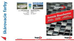 Cenník Sopro 2013