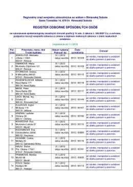 Zoznam osob_2012 - RUVZ so sídlom v Rimavskej Sobote