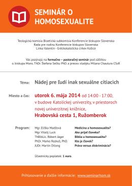 Seminár o homosexualite Ružomberok (PDF)