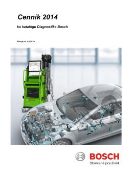 Cenník 2014 ku katalógu Diagnostika Bosch