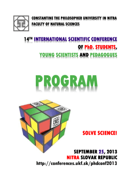 SOLVE SCIENCE! - DynaMAT Comenius project