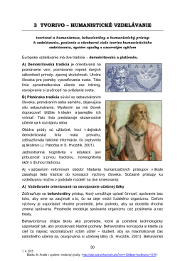 tvorivo-humanistické vzdelávanie