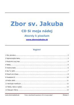 Akordy - Zbor sv.Jakuba