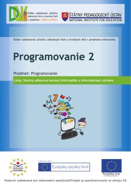 Programovanie 2
