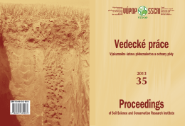 Rok 2013 - Výskumný ústav pôdoznalectva a ochrany pôdy