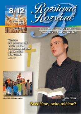 Rozsievac 2012 - 8.indd - Bratská jednota baptistov