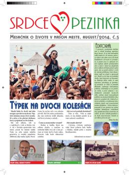 August 2014 - Srdce Pezinka