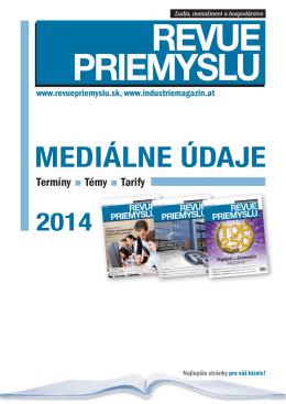 Mediálne údaje 2014 - industriemagazin