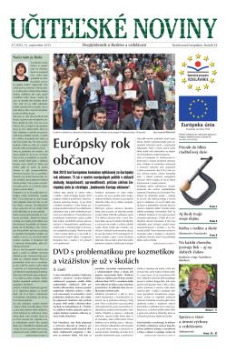 Európsky rok občanov - Domov - Štátny inštitút odborného