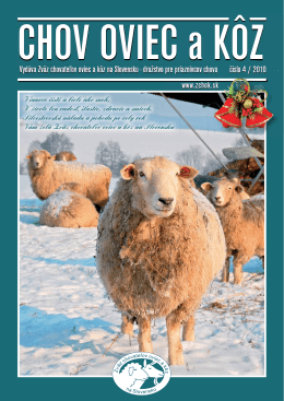 Číslo 04/2010 - Zväz chovateľov oviec a kôz na Slovensku