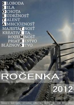 ROČENKA 2012 - ssosta.edupage.org