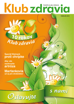Jar 2010 PDF - Klub zdravia Walmark