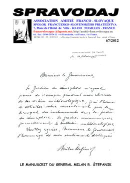 Spravodaj c 67 - Spolok francúzsko