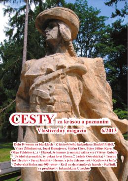 Vlastivedný magazín 6/2013 CESTY za krásou a poznaním