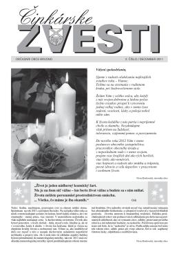 Čipkárske zvesti č. 2 december 2011
