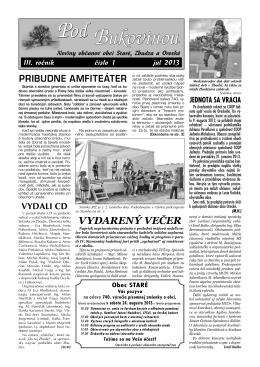 1/2013 - Obec Zbudza