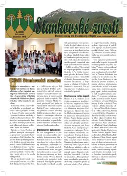 Stankovské zvesti, 2013, VII. ročník, 1. číslo