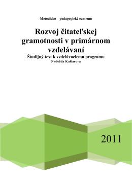 Rozvoj čitateľskej gramotnosti v primárnom vzdelávaní